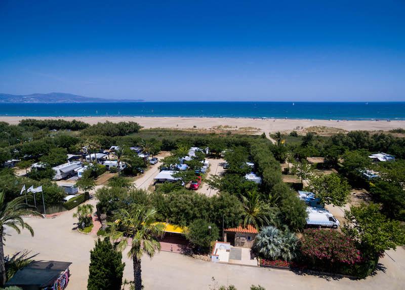 Camping Aquarius-Vue Aerienne Plage
