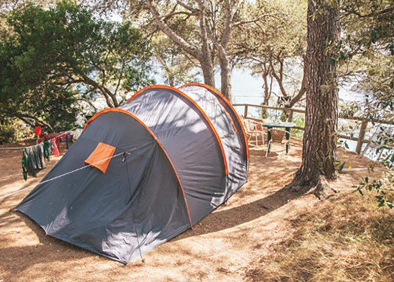 Camping Cala Llevado-Emplacement tente-Vue mer