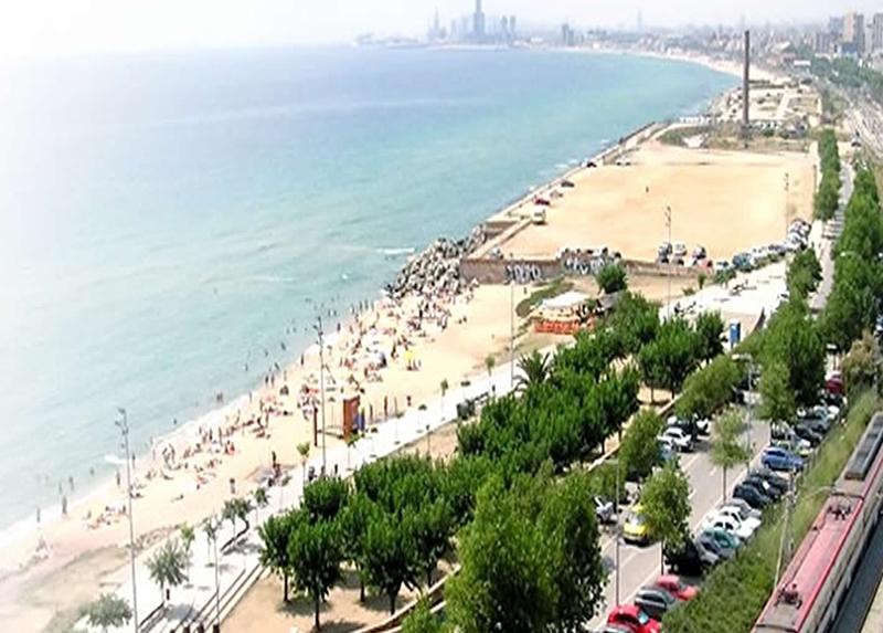 Camping Masnou Espagne-plage sable fin