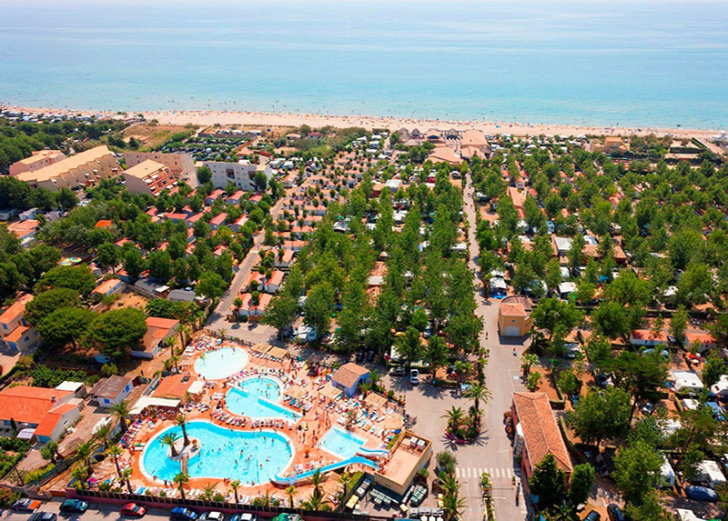Camping-Village Le Floride and L'Embouchure-View from the sky
