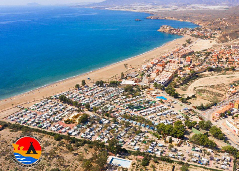 Playa de Mazarrón-Vue du ciel